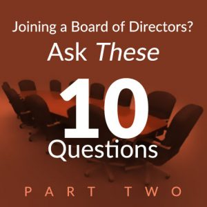 joining a board of directors